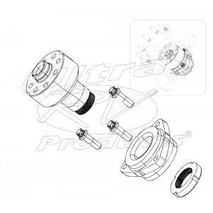 W8002878  -  Hub and Spindle (Uni-Pack Bearing, Mounting Bolts, Hub Nut)