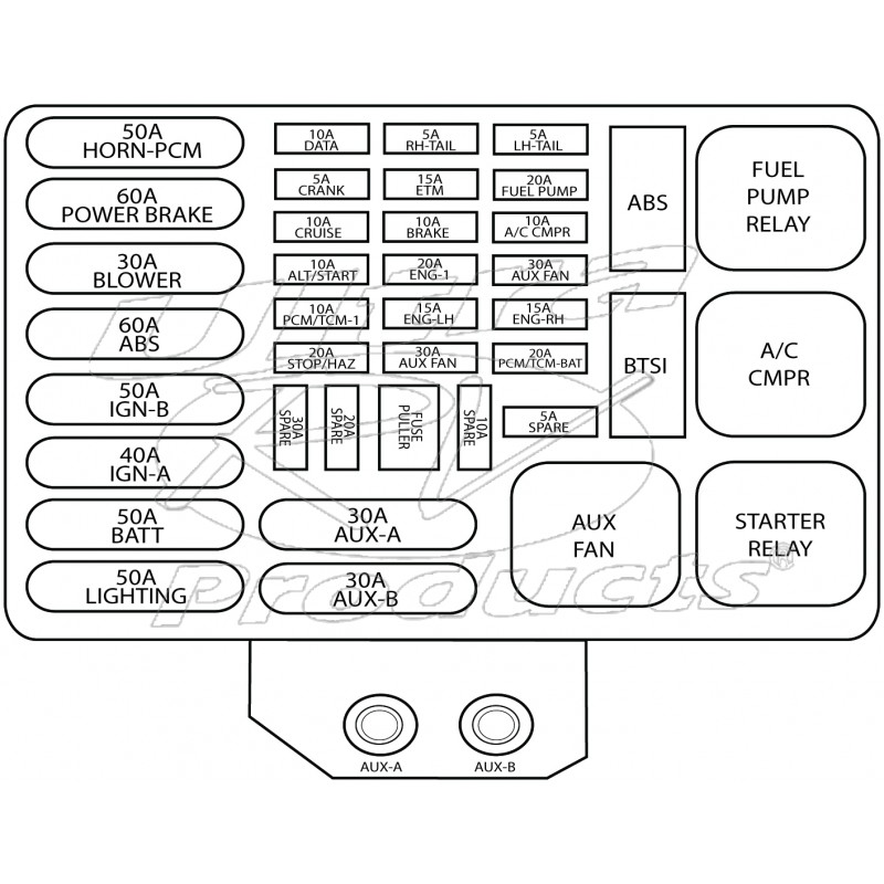workhorse fuse box wiring diagram 12162365 01 05 w series p series fuse relay box cover 2004 workhorse fuse box