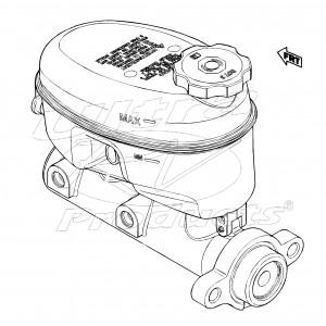 W0007678  -  Master Cylinder Asm - Brake (52mm Calipers)