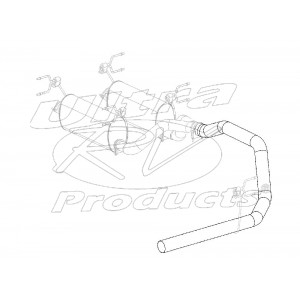 W0005672  -  Pipe Asm - Exhaust, Single Tail, 4""