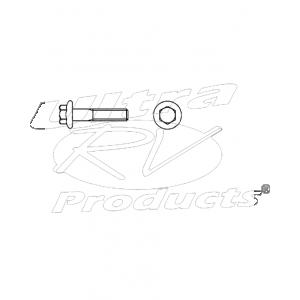 W9000032  -  Wiper Module Bolt-hex Flg  M6x1x20 Cl