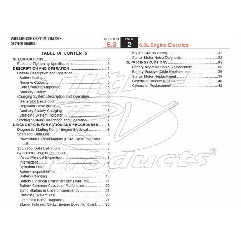Workhorse Wiring Diagram Manual : Workhorse lf engine electrical service manual