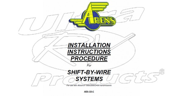 2007 2008 workhorse r26 ufo arens shift by wire service. Black Bedroom Furniture Sets. Home Design Ideas