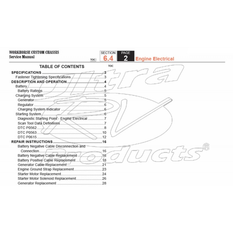 2008 Workhorse Engine Wiring Diagram Free Download bull Oasis