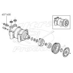 15724142 - A/c High Side Hose, Compressor & Condenser