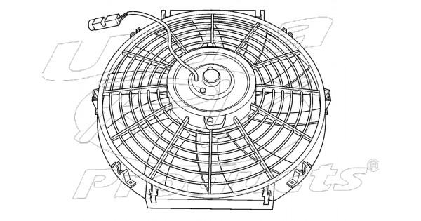 w8000087 - workhorse electric a  c fan asm