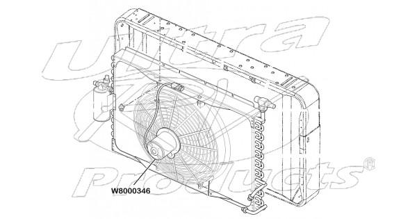 w8000346 - electric a  c fan asm