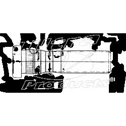 00334388  -  Stud - Front Wheel (Serrated) (9/16-18 x 2 1/4)