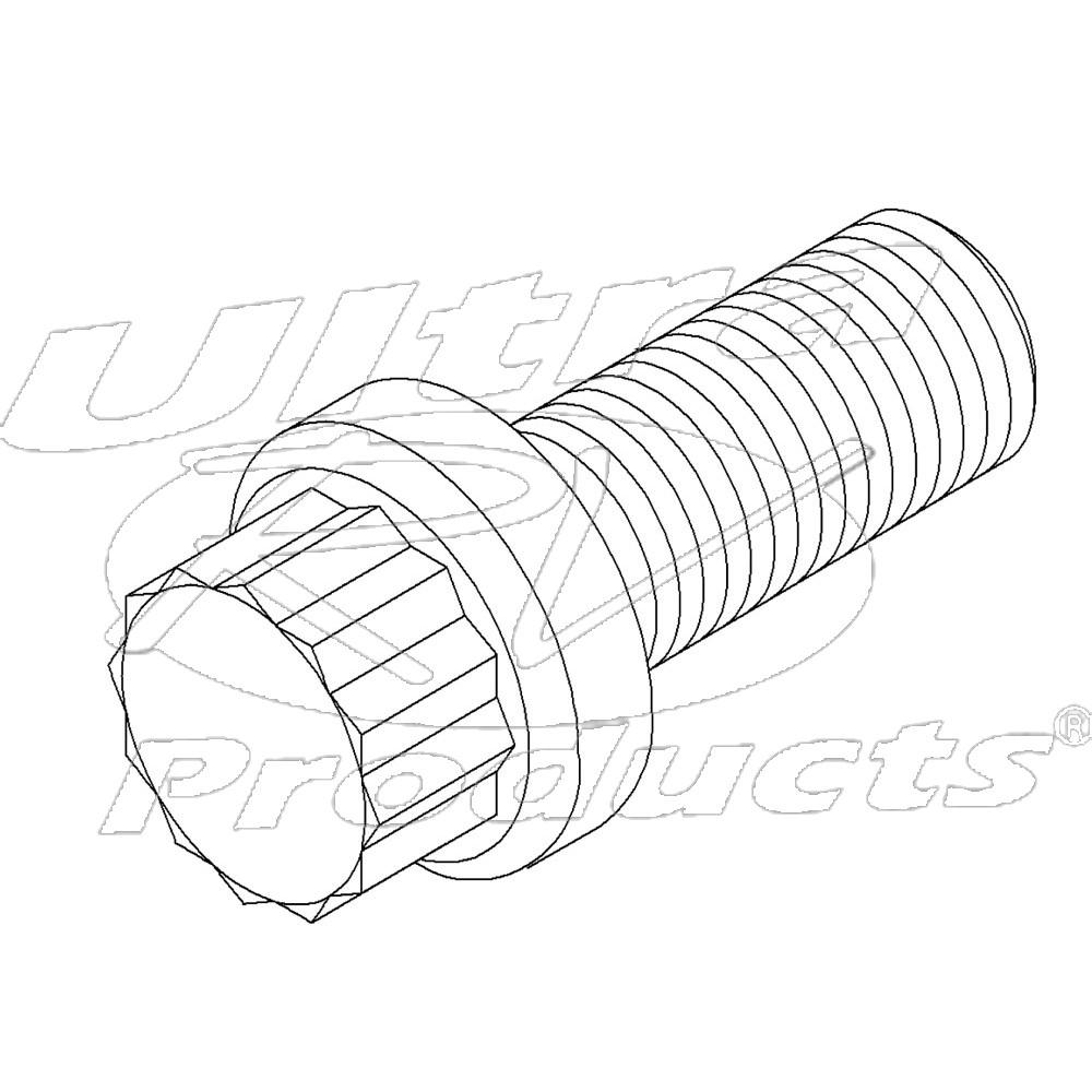 00458300  -  Bolt - Rear Driveline U-joint Strap