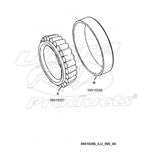 09418356  -  Bearing Asm - Differential Drive Gear and Pinion (Outer)
