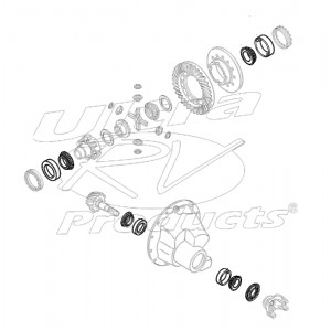 12376134  -  Kit - Pinion and Differential Bearings and Pinion Oil Seal