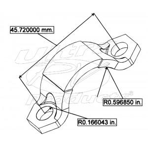 14046907  -  Workhorse P32 Rear Driveline U-joint Strap