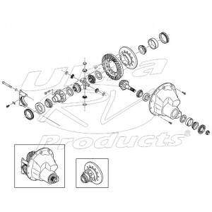 89027137  -  Carrier Asm Differential (Dana S150) (5.38 Ratio)