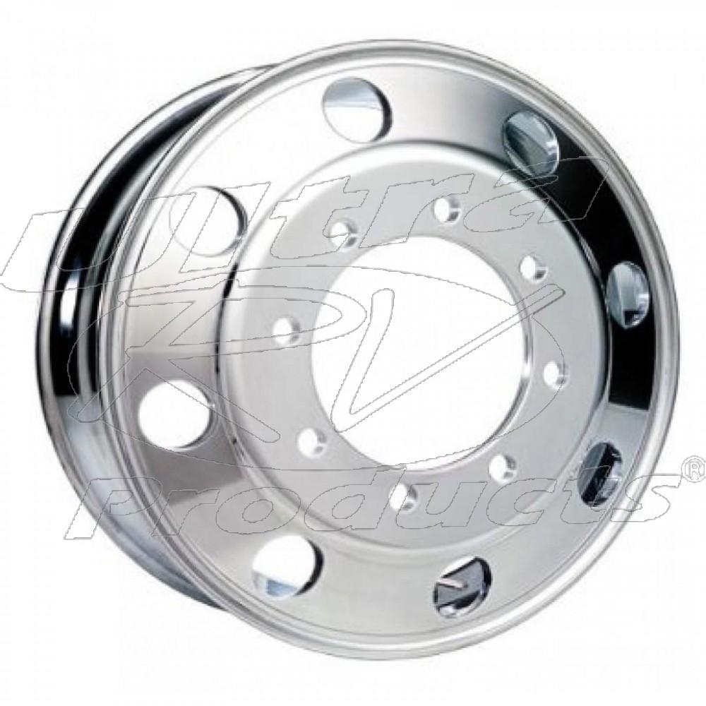 W0009566 Front Wheel Aluminum 22 5 X 7 5 Offset 6 28 8 Hole Outside Polished Workhorse Parts