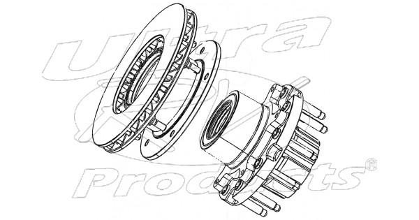 w8003602 - hub  u0026 rotor asm