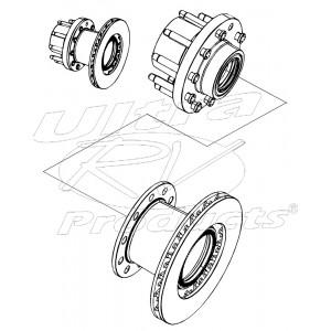 W8003609  -  Hub & Rotor Asm - (dana Model 70) (drw)