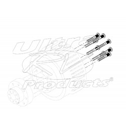 W8810703  -  Stud - Rear Wheel (Dual Rear Wheel Chassis w/ Drum)