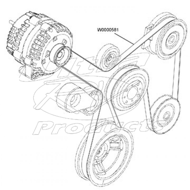 w0000581 workhorse w series chassis 8 1l drive belt workhorse parts 1991 2.3L Ford Engine Diagram