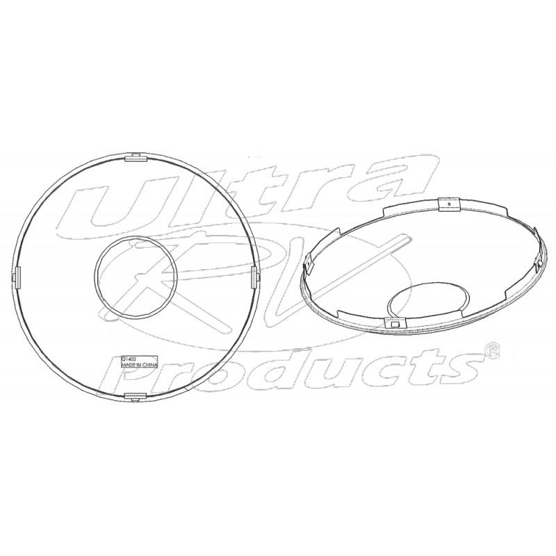 W0009787 Hub Cover Front Alcoa Alum Wheel 8 Hole Four Spline