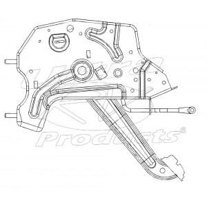 W0007440  -  Lever Asm - Parking Brake (Foot)