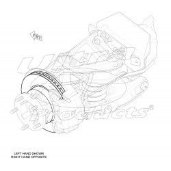 W8000529AF  -  Rotor - Aftermarket P32/P42 Front Brake (JF9 - Independent)