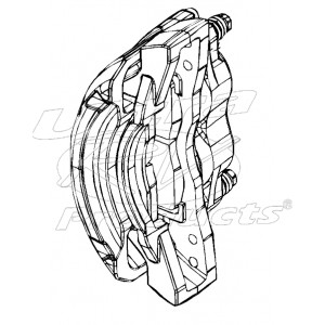 W8006457  -  Caliper Asm - Brake, Front, 2x68mm Brembo (Without Pads), Left Hand Side