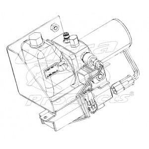 W8005667 - Pump Asm - J72 Park Brake (With Control Module & Mounting Bracket)