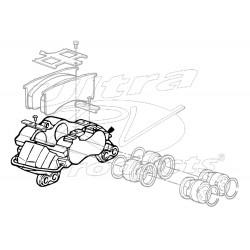 W8001187 - Quadraulic 70mm Piston Caliper Asm, RH Rear Or LH Front
