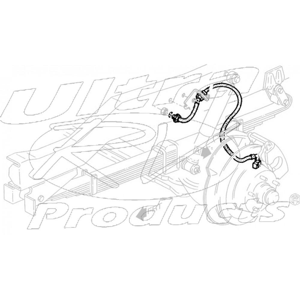 W8006748  -  Brake Hose Assembly - Front LH (I-Beam - 4 Wheel Disc)