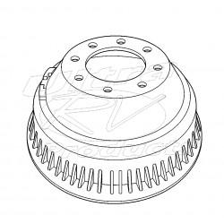 W8810500  -  Drum - Rear Brake (P42 - JB8 - DRW)