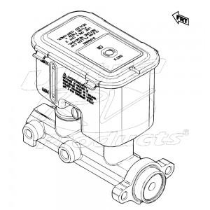 MC390850 - Master Cylinder Asm - Brake (68mm Calipers)