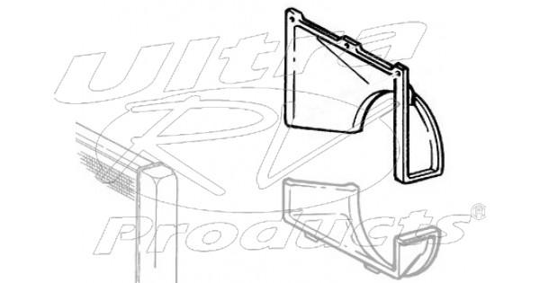 15050595 - shroud - radiator fan upper