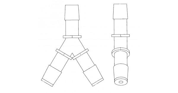 w0000979 - y-piece asm - surge tank hose