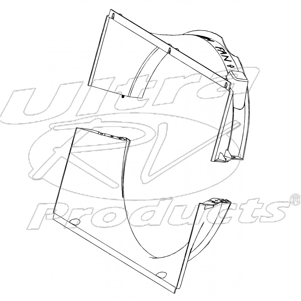 w8005661 workhorse 8 1l radiator fan shroud kit (upper and lower) Electric Radiator Fan Wiring
