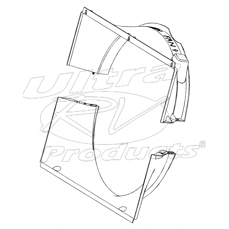 W8005661 - Workhorse 8.1l Radiator Fan Shroud Kit (upper And Lower) -  Workhorse Parts | Workhorse Wiring Diagram Radiator Fans |  | Ultra RV Products