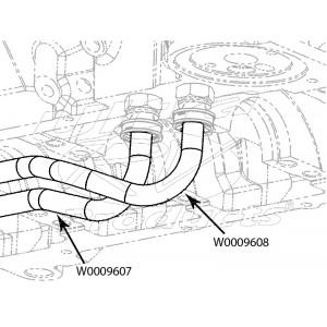 W0009608  -  Hose Asm - Engine Oil Cooler Inlet, Engine Outlet