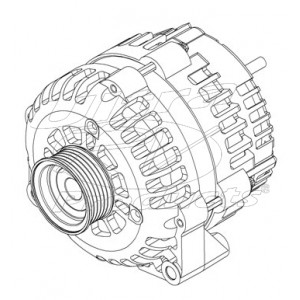 08400251 - Alternator / Generator Assembly 145 Amp