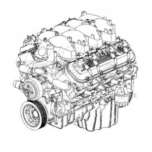 19299574  - 8.1L/496 Engine Asm (MY 2001-2003)