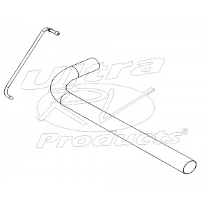 W0000214  -  Pipe Asm - Exhaust Tail, RH