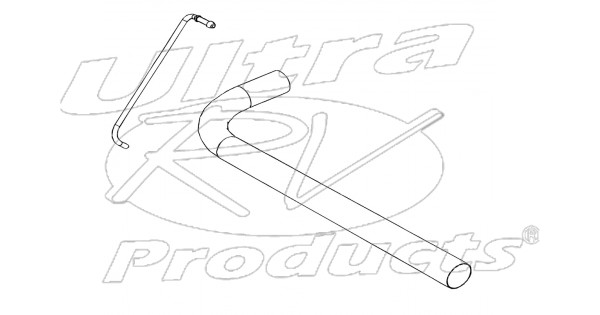 w0000214 - pipe asm - exhaust tail  rh