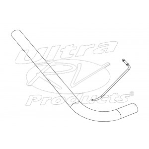 W0000216  -  Pipe Asm - Exhaust Tail, LH