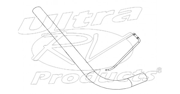 w0000216 - pipe asm - exhaust tail  lh