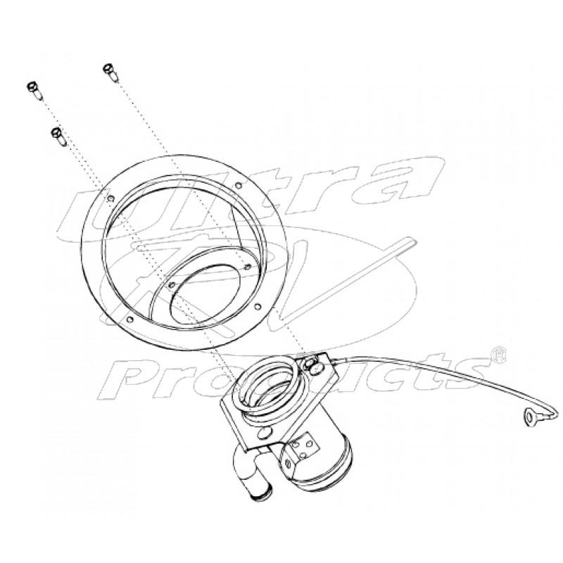 w0010859 - pipe asm - fuel tank filler