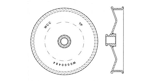 w0000484 - power steering pump pulley asm