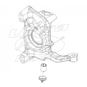 W8002500 - Steering Knuckle Asm, Right Hand Side