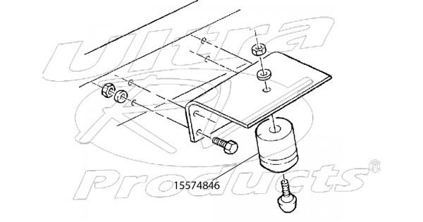 15574846 - bumper - rear axle