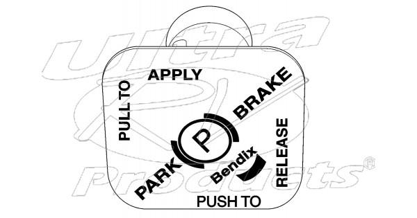 15684607 - knob - park brake pump motor switch